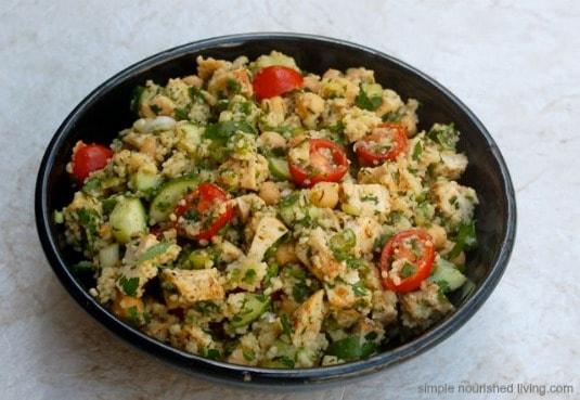 Mediterranean Chicken Couscous Salad Simple Nourished Living