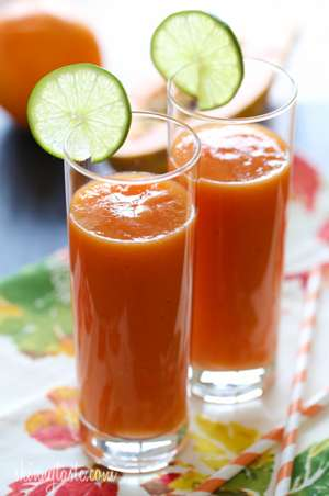 Tropical Papaya Batido (fruit shake) Recipe