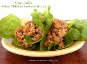 Slow Cooker Asian Chicken Lettuce Wraps: 13 PointsPlus