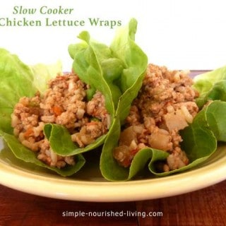 Slow Cooker Asian Chicken Lettuce Wraps yellow plate