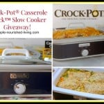 Crock Pot Casserole Cooker Giveaway