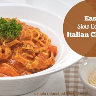 Easy Slow Cooker Italian Chicken - Weight Watchers Friendly