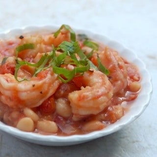 Slow Cooker White Beans and Shrimp
