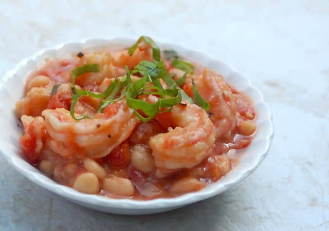 Crock Pot White Beans and Shrimp