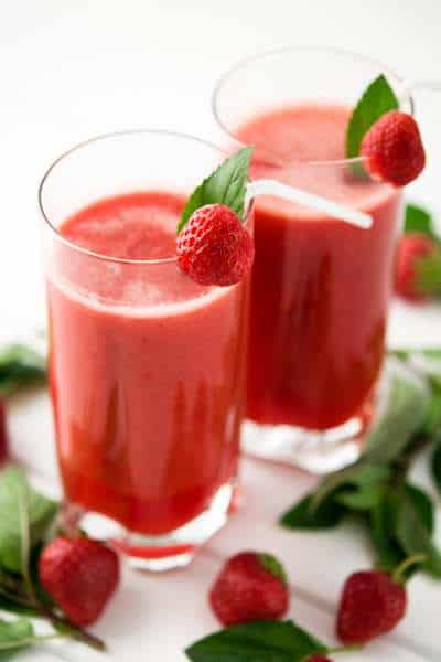 Strawberry Watermelon Smoothie Recipes with Ginger