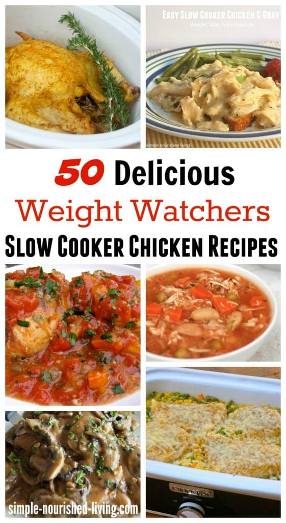 50 healthy slow cooker chicken recipes for Weight Watchers