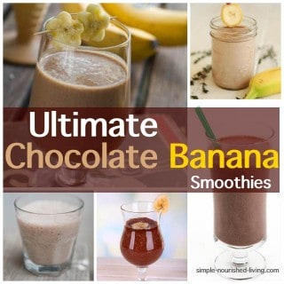 Chocolate Banana Smoothies Collage