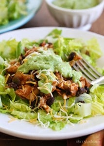 Crock Pot Chicken Black Bean Taco Salad