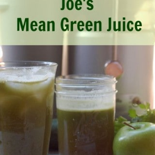 30 days of juice Joes Mean Green Juice