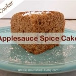 Slow Cooker Applesauce Spice Cake
