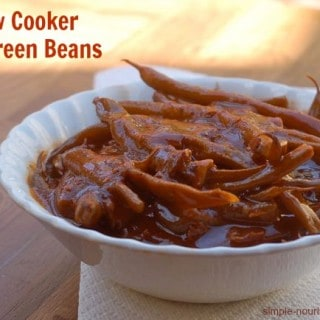 Slow Cooker BBQ Green Beans with Bacon