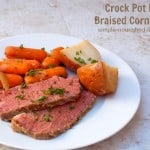 slow cooker beef braised corned beef