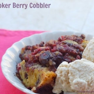 Low Fat Slow Cooker Berry Cobbler