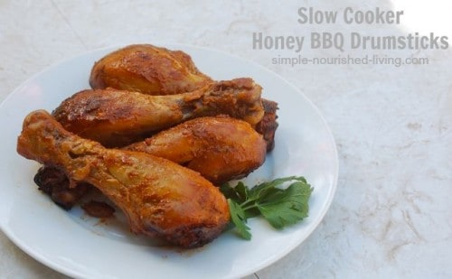 Healthy Slow Cooker Chicken Recipes - Slow Cooker Honey BBQ Drumsticks