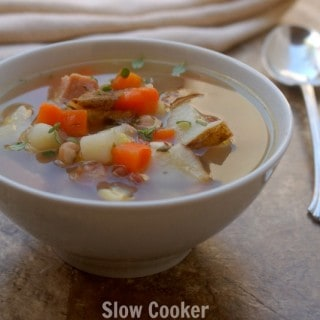 Crock Pot Leftover Ham Bone Soup