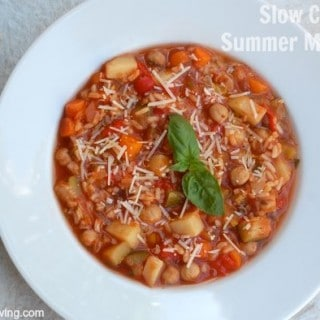 Slow Cooker Summer Vegetable Soup – 2 Freestyle SmartPoints