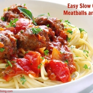 Easy Slow Cooker Meatballs and Sauce – 8 SmartPoints