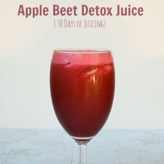 Martha's Apple Beet Detox Juice