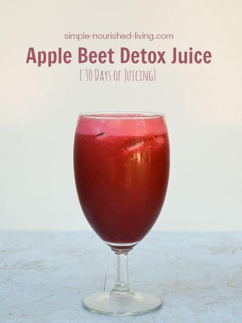 apple beet detox juice