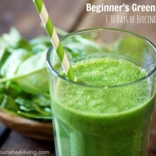 Beginner Green Juice Recipe {30 Days of Juicing}