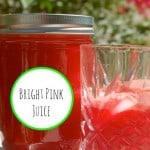 Bright Pink Juice