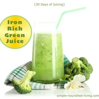 Iron Rich Green Juice {30 Days of Juicing}