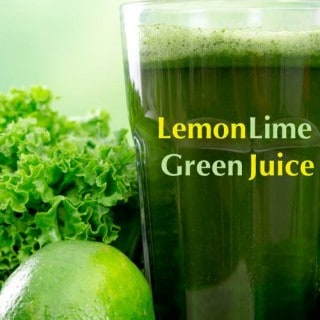 Lemon Lime Green Juice {30 Days of Juicing}