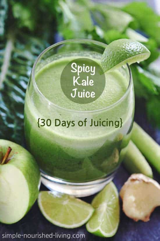 Kale In Slow Juicer : Spicy Kale Juice Recipe (aka Spicy Super Green Limeade)