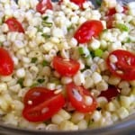 Summer Corn and Tomato Salad Close UP