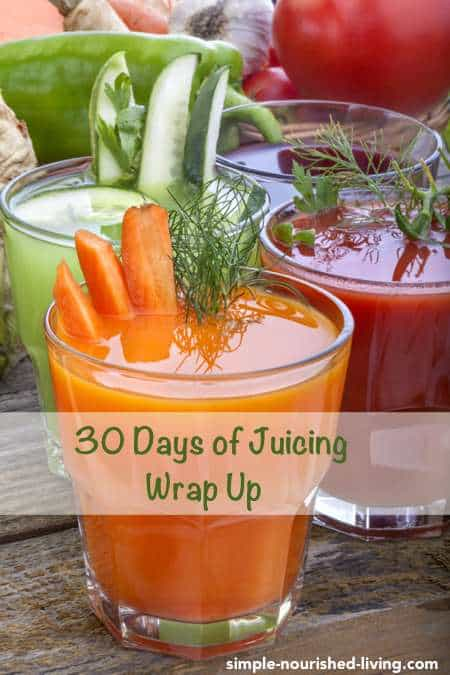 30 Days of Juicing and Weight Watchers Wrap-up