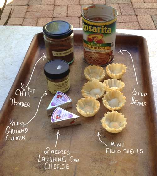 Simple Ingredients for Bean and Cheese Mini Bites