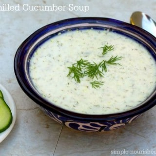 4 ingredient easy chilled cucumber soup recipe