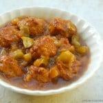 slow cooker hawaiian meatballs white dish