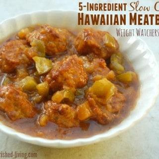 5-Ingredient Slow Cooker Hawaiian Meatballs Recipe