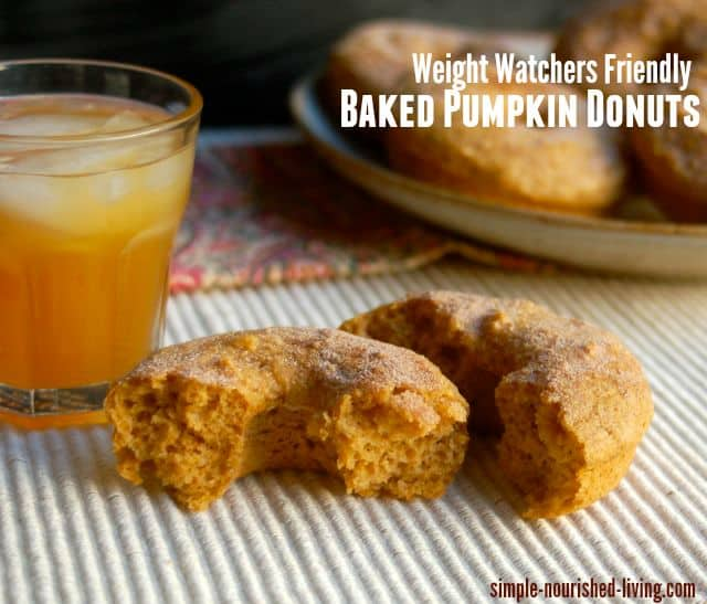 healthy baked pumpkin doughnuts for weight watchers