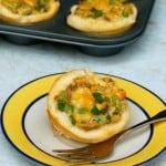 Skinny Mini Chicken Pot Pies Plate
