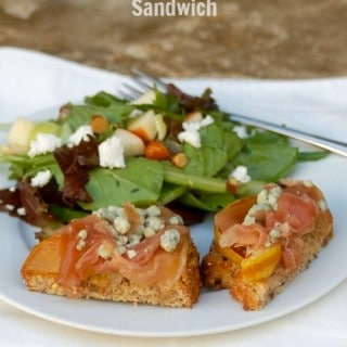 Weight Watchers Open Face Prosciutto Pear Blue Cheese Sandwich