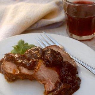 slow cooker pork roast with prunes