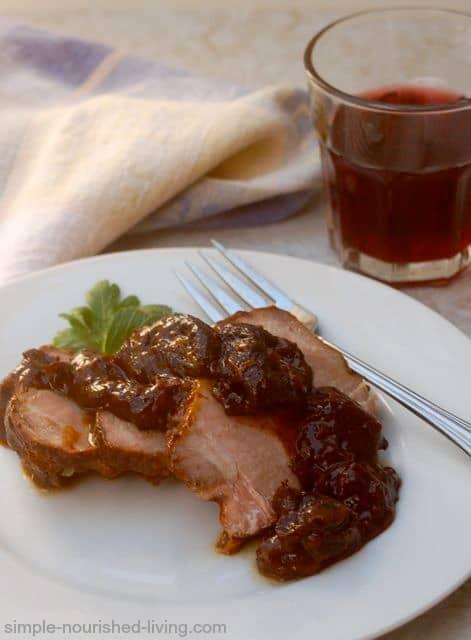 Weight Watchers Slow cooker Pork Roast with Prunes