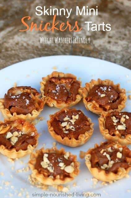 Snickers Mini Tarts Weight Watchers Recipes with Points