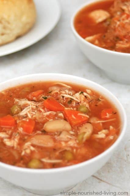 Slow Cooker Chicken Vegetable Soup - 3 Weight Watchers SmartPoints