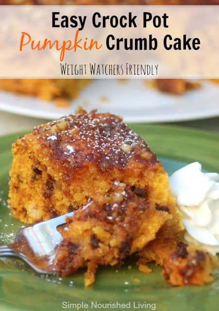 Easy Crock Pot Pumpkin Crumb Cake