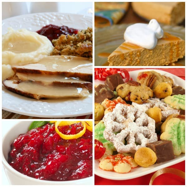 Healthy Holiday Food collage