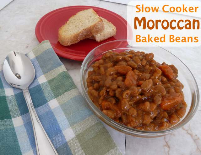 Slow Cooker Moroccan Baked Beans - Just 3 WW PointsPlus