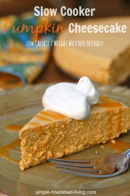 Low Calorie Crock Pot Pumpkin Cheesecake - 8 Weight Watchers Freestyle SmartPoints