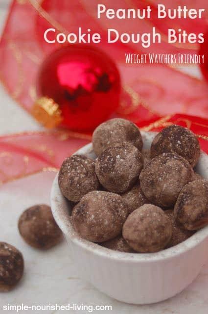 Weight Watchers No Bake Peanut Buttery Cookie Dough Balls