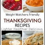 Lighter Thanksgiving recipes collage for Weight Watchers