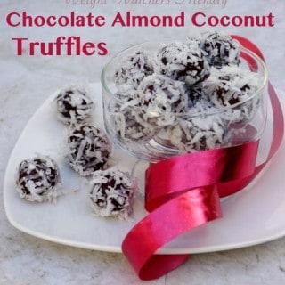 Weight Watchers Friendly Chocolate Almond Coconut Truffles