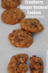 Cranberry Ginger Oatmeal Cookies
