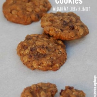 Weight Watchers Cranberry Ginger Oatmeal Cookies